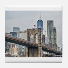 Unique Brooklyn bridge Tile Coaster
