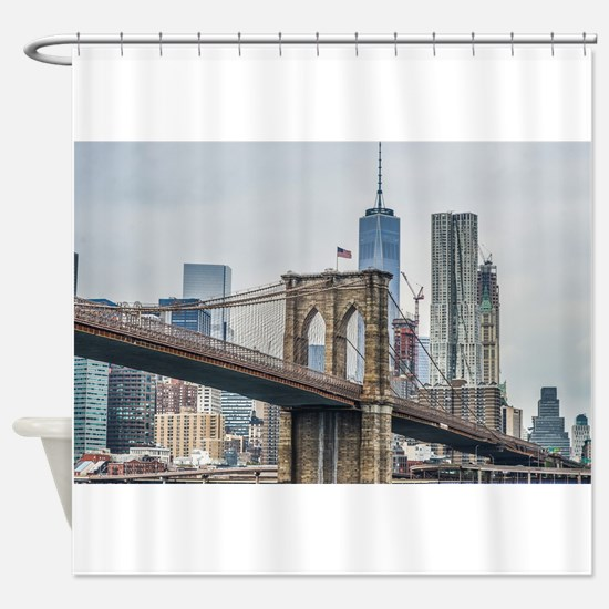 Cute Brooklyn bridge Shower Curtain