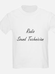 Radio Sound Technician Artistic Job Design T-Shirt