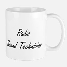 Radio Sound Technician Artistic Job Design Mugs