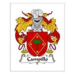Campillo Family Crest Small Poster