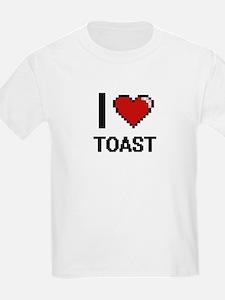 I love Toast digital design T-Shirt