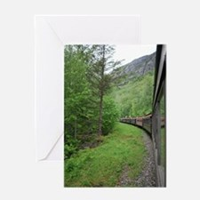 Alaskan Train Greeting Cards