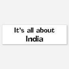 About India Bumper Bumper Bumper Sticker