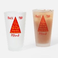 Chinese Food Pyramid Drinking Glass
