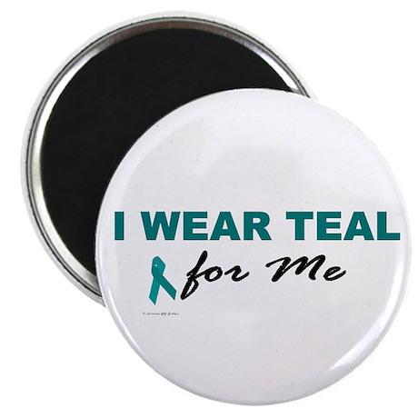 """I Wear Teal For Me 2 2.25"""" Magnet (100 pack)"""
