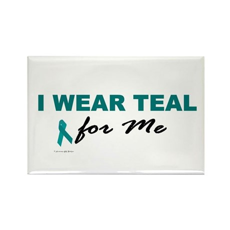 I Wear Teal For Me 2 Rectangle Magnet