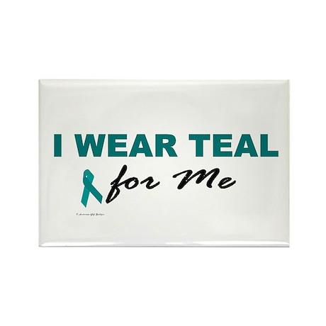I Wear Teal For Me 2 Rectangle Magnet (100 pack)