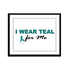 I Wear Teal For Me 2 Framed Panel Print
