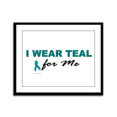 I Wear Teal For Me 2 Framed Panel Print