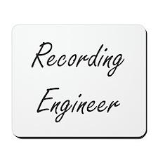Recording Engineer Artistic Job Design Mousepad