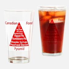 Canadian Food Pyramid Pint Glass