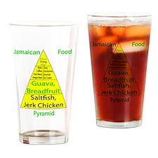 Jamaican Food Pyramid Drinking Glass