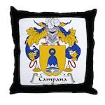Campana Family Crest Throw Pillow