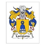 Campana Family Crest Small Poster