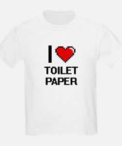 I love Toilet Paper digital design T-Shirt