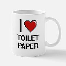 I love Toilet Paper digital design Mugs