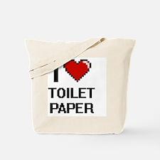 I love Toilet Paper digital design Tote Bag