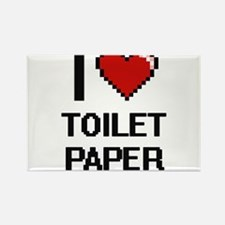 I love Toilet Paper digital design Magnets