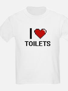 I love Toilets digital design T-Shirt