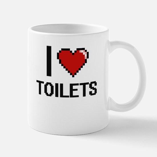I love Toilets digital design Mugs