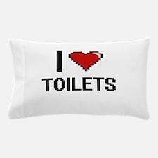 I love Toilets digital design Pillow Case