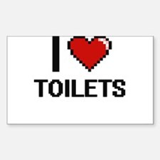 I love Toilets digital design Decal