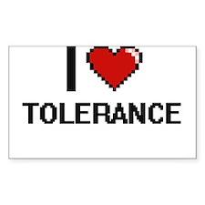 I love Tolerance digital design Decal