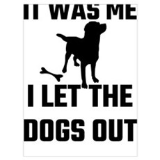 It Was Me I Let The Dogs Out Poster