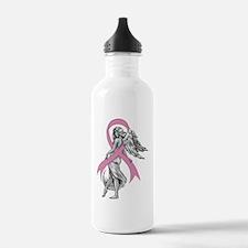 Breast Cancer Angel Water Bottle
