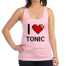I love Tonic digital design Racerback Tank Top