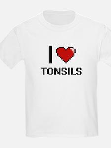 I love Tonsils digital design T-Shirt