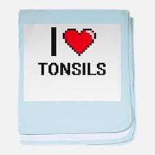 I love Tonsils digital design baby blanket