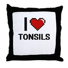 I love Tonsils digital design Throw Pillow
