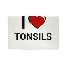 I love Tonsils digital design Magnets