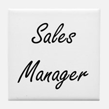 Sales Manager Artistic Job Design Tile Coaster