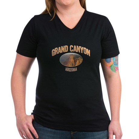Grand Canyon National Park Women's V-Neck Dark T-S