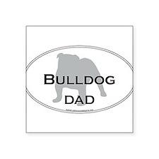"Cute American bulldog dad Square Sticker 3"" x 3"""