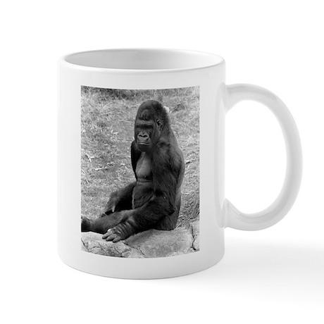 Young Mail Gorilla on Rock Mug