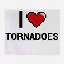 I love Tornadoes digital design Throw Blanket