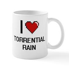 I love Torrential Rain digital design Mugs