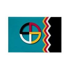 Funny Native american Rectangle Magnet (10 pack)