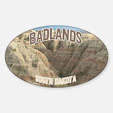 Badlands National Park Oval Decal