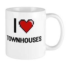 I love Townhouses digital design Mugs