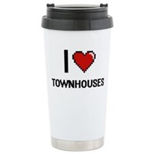 I love Townhouses digit Travel Mug