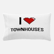 I love Townhouses digital design Pillow Case