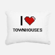 I love Townhouses digita Rectangular Canvas Pillow