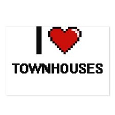 I love Townhouses digital Postcards (Package of 8)