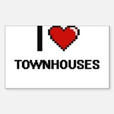 I love Townhouses digital design Decal