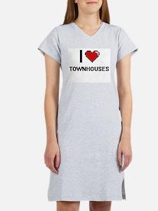 I love Townhouses digital desig Women's Nightshirt